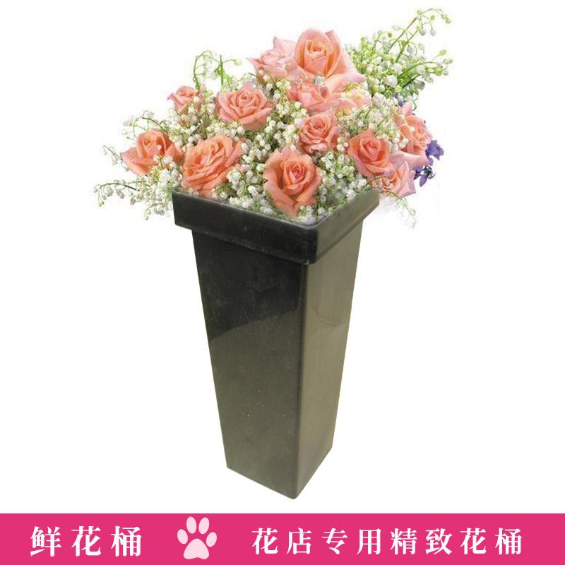 塑料插花桶黑色包花花